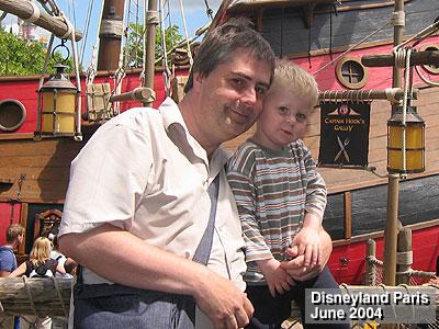 Alex at Disneyland Paris, with his Daddy!