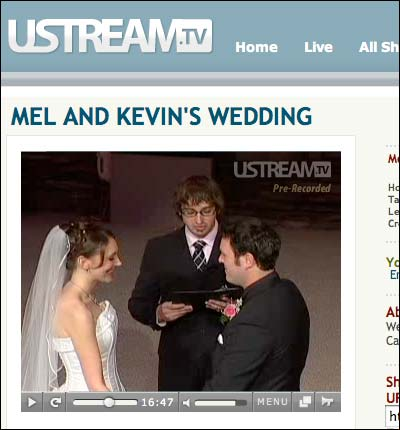 Screenshot from Ustream.tv