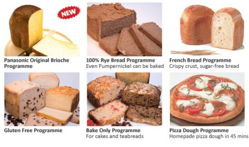 The Panasonic SD257WXC breadmaker can produce all these!