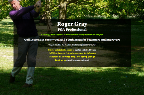 Roger Gray, golf lessons in Brentwood