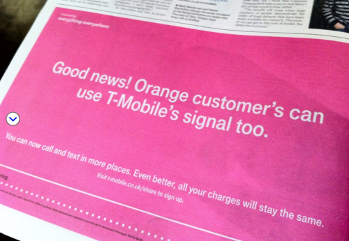 Grocer's Apostrophe example from T-Mobile