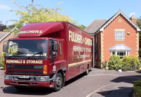 Fulchers of Cambridge truck loading up our worldly goods