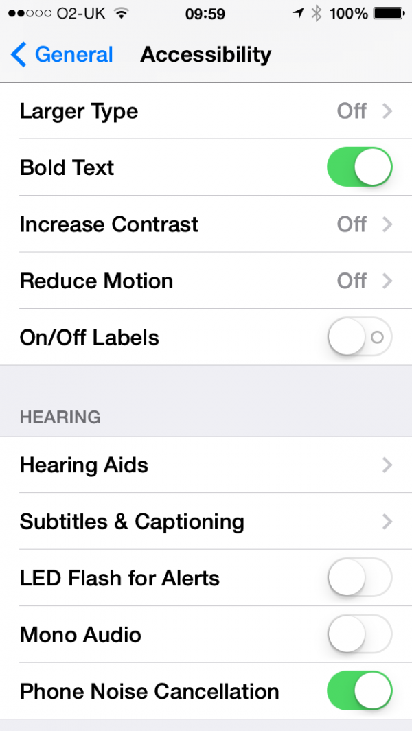 Change type to bold in iOS7